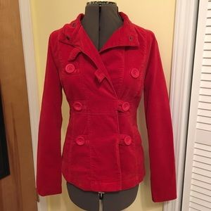 Red Mossimo Supply Co. velvety pea coat